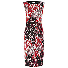 Buy Planet Blurred Animal Print Dress, Red/Multi Online at johnlewis.com