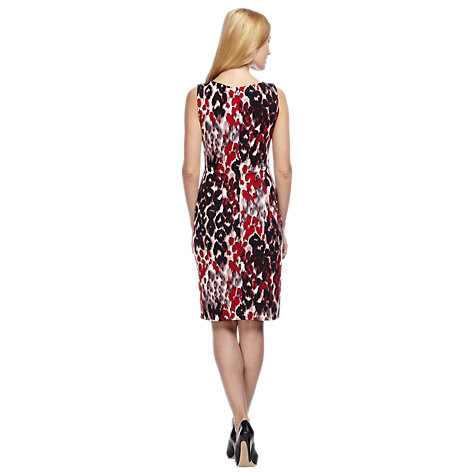Buy Planet Blurred Animal Print Dress, Red / Multi Online at johnlewis.com