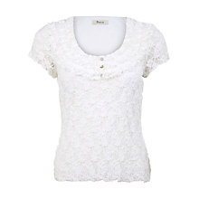 Buy Precis Petite Lace Top, Neutral Online at johnlewis.com