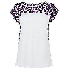 Buy Boutique by Jaeger Leopard Print T-Shirt, White Online at johnlewis.com
