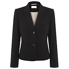 Buy Planet Mid Length Twill Jacket, Black Online at johnlewis.com