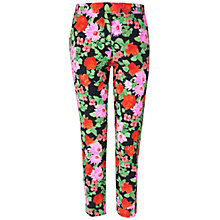 Buy Jaeger Floral Trousers, Dark/Multi Online at johnlewis.com