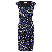 Buy Precis Petite Cutwork Floral Dress, Blue / Black Online at johnlewis.com
