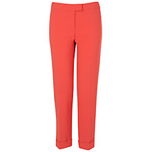 Buy Boutique by Jaeger Straight Leg Trousers, Bright Orange Online at johnlewis.com