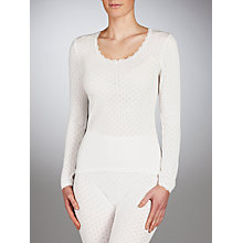 Buy John Lewis Long Sleeve Thermal Top, Ivory Online at johnlewis.com