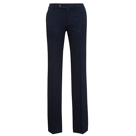 Buy Lauren by Ralph Lauren Straight Slimming Fit Trousers, Regal Navy Online at johnlewis.com