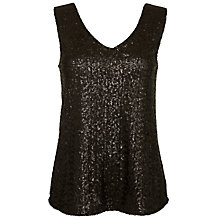 Buy Minimum Feluna Sequin Top, Black Online at johnlewis.com
