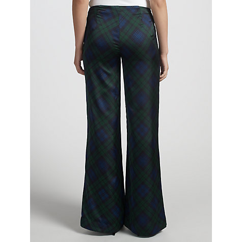 Buy Lauren by Ralph Lauren Wide-Leg Plaid Trousers, Navy Online at johnlewis.com