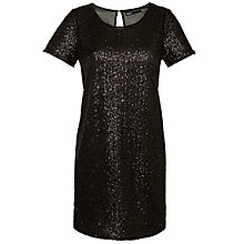 Buy Minimum Molia Sequin Dress, Black Online at johnlewis.com