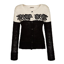 Buy People Tree Bella Cardigan, Black Online at johnlewis.com