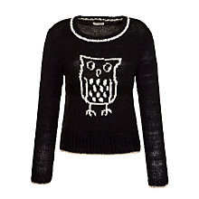 Buy People Tree Wise Owl Jumper, Black Online at johnlewis.com