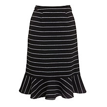 Buy People Tree Grace Peplum Skirt, Black Online at johnlewis.com