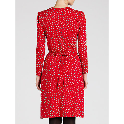Buy People Tree Pippa Floral Dress, Red Online at johnlewis.com