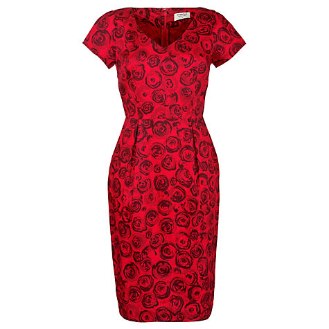 Buy People Tree Lauren Rose Dress, Red Online at johnlewis.com