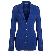 Buy Lauren by Ralph Lauren Shawl Collar Cardigan, Earl Blue Online at johnlewis.com