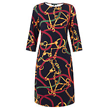 Buy Lauren by Ralph Lauren Bridle-Print Crewneck Dress, Multi Online at johnlewis.com
