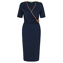 Buy Lauren by Ralph Lauren Faux Wrap Dress, Regal Navy Online at johnlewis.com