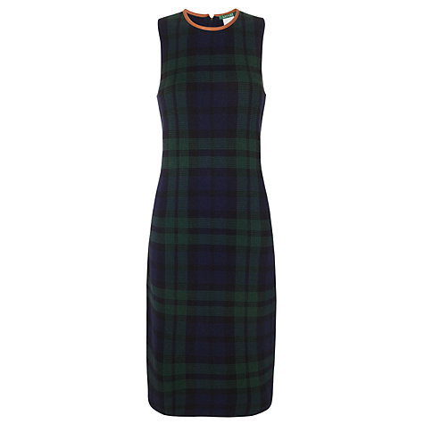 Buy Lauren by Ralph Lauren Plaid Dress, Regal Navy Online at johnlewis.com