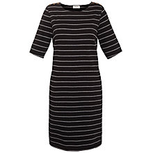 Buy People Tree Florence Fleece Dress, Black Online at johnlewis.com