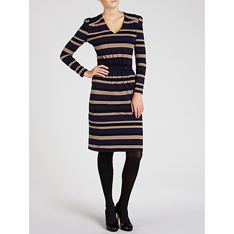 Buy People Tree Pippa Stripe Dress, Navy Online at johnlewis.com