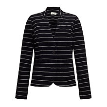 Buy People Tree Hannah Stripe Blazer, Black Online at johnlewis.com