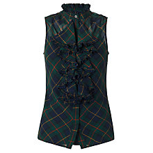 Buy Lauren by Ralph Lauren Tartan Plaid Silk Top, Navy Multi Online at johnlewis.com
