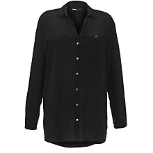Buy Minimum Salma Silk Shirt, Black Online at johnlewis.com