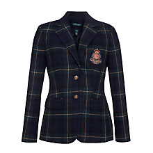Buy Lauren by Ralph Lauren Jacket Plaid Wool Jacket, Regal Navy Online at johnlewis.com