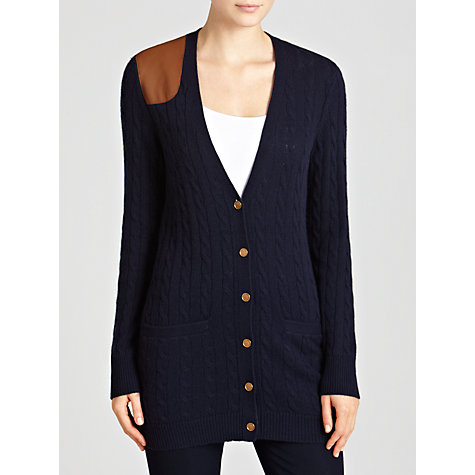 Buy Lauren by Ralph Lauren V-neck Cardigan, Regal Navy Online at johnlewis.com