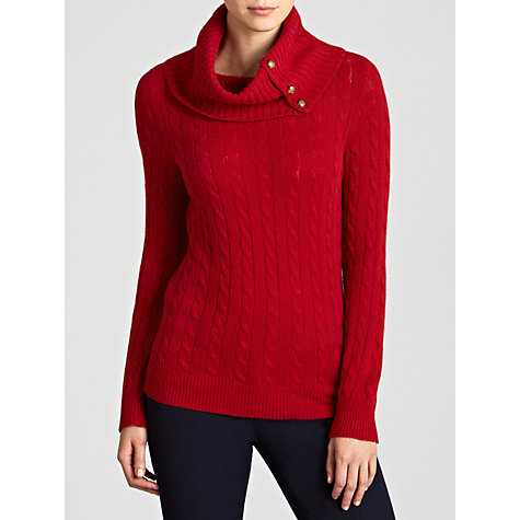 Buy Lauren by Ralph Lauren Cable-Knit Buttoned Turtleneck Online at johnlewis.com
