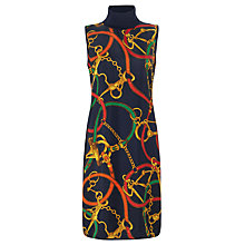 Buy Lauren by Ralph Lauren Equestrian-Print Wool Dress, Multi Online at johnlewis.com
