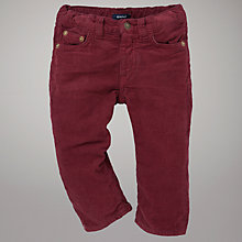 Buy Gant Corduroy Trousers, Burgundy Online at johnlewis.com