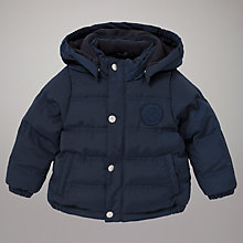 Buy Gant Hooded Padded Jacket, Navy Online at johnlewis.com
