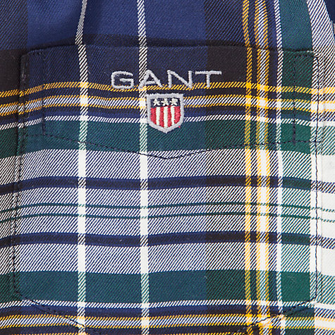 Buy Gant Madison Twill Shirt Boy, Navy/Green Online at johnlewis.com