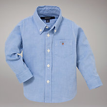 Buy Gant Campus Oxford Shirt Boy, Blue Online at johnlewis.com