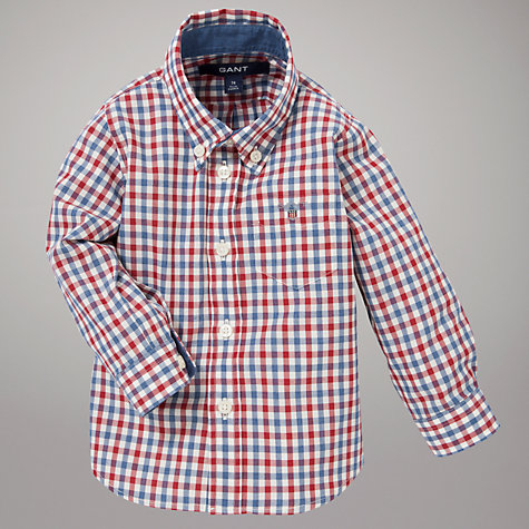 Buy Gant Heather Long Sleeved Poplin Shirt Online at johnlewis.com