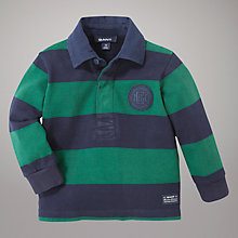 Buy Gant Bar Stripe Rugby Top, Green/Blue Online at johnlewis.com