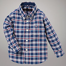 Buy Gant Madison Long Sleeved Twill Shirt Boy, Navy/Red Online at johnlewis.com