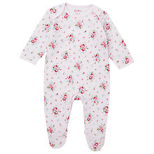 Buy Cath Kidston Mini Notting Hill Rose Sleepsuit, White/Multi Online at johnlewis.com