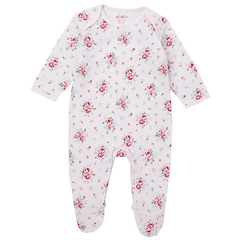 Buy Cath Kidston Baby Mini Notting Hill Rose Sleepsuit, White/Multi Online at johnlewis.com