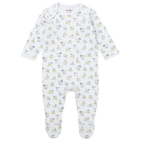 Buy Cath Kidston Baby Lambs Sleepsuit, White Online at johnlewis.com