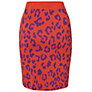 Buy Boutique by Jaeger Leopard Print Skirt, Dark Multi Online at johnlewis.com