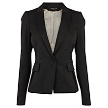 Buy Warehouse Herringbone Blazer, Dark Grey Online at johnlewis.com