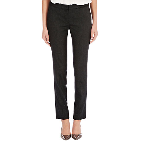 Buy Warehouse Herringbone Trousers, Dark Grey Online at johnlewis.com