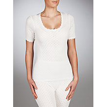 Buy John Lewis Short Sleeve Thermal Top, Ivory Online at johnlewis.com