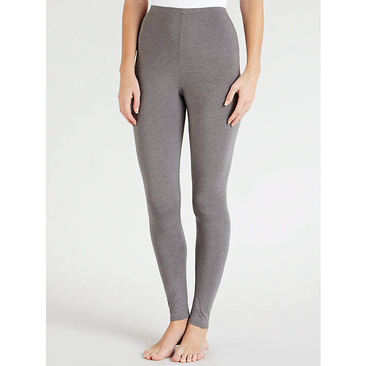 Buy John Lewis Heat Generating Thermal Leggings, Grey Marl, 8-10 Online at johnlewis.com