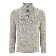 Buy John Lewis Laguna Button Neck Jumper, Grey Online at johnlewis.com