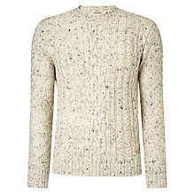Buy JOHN LEWIS & Co. Sheep Breed Cable Crew Neck Jumper, Natural Online at johnlewis.com