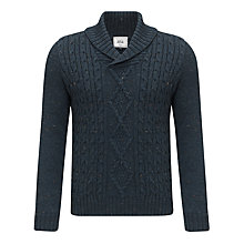 Buy John Lewis Sheep Breed Cable Knit Shawl Jumper, Teal Online at johnlewis.com