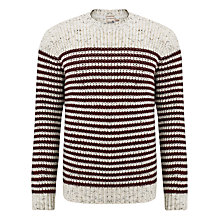 Buy JOHN LEWIS & Co. Striped Sheeps Wool Crew Jumper Online at johnlewis.com